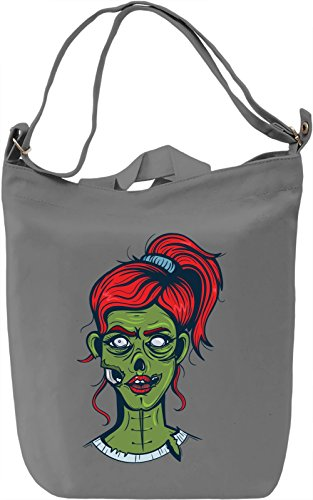 Zombie girl Borsa Giornaliera Canvas Canvas Day Bag| 100% Premium Cotton Canvas| DTG Printing|
