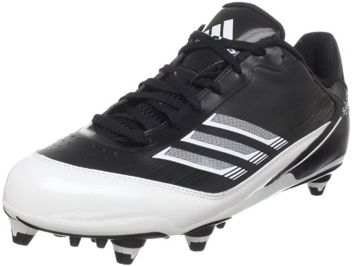 - adidas Men's Scorch X Low D Football Cleat,Black/White/Metallic Silver,12.5 M US