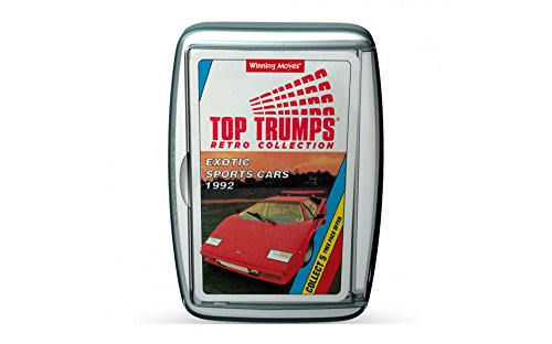 Exotic Sports Cars - 1992! Retro Top Trumps Card Game - A great gift and nostalgic challenge!