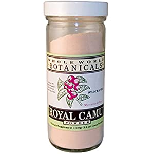 Whole World Botanicals Royal Camu Powder Wildcrafted 100 Gram Package May Vary