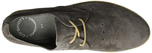 cashott A17032, Zapatos de Cordones Derby para Mujer Grau (Cipro Dark Taupe 541)