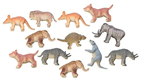 - Curious Minds Busy Bags Miniature Ice Age Animal Figurines Replicas - Prehistoric - Mini Action Figures - Miniature Animal Playset