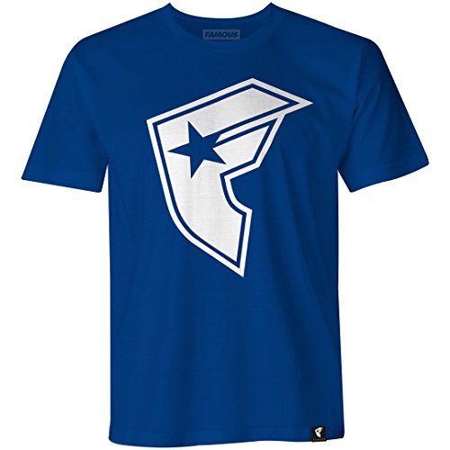 Famous Stars and Straps Big BOH Tee, Royal Blue/White, (Boh Mens T-shirt)