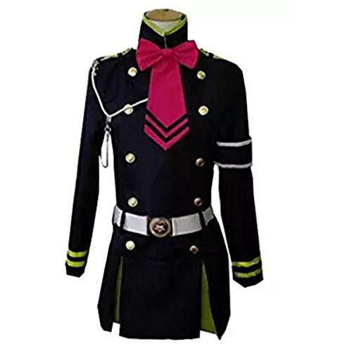 Shinoa Hiragi Costume (HOLRAN Seraph of the End Hiragi Shinoa Cosplay Costume Outfit Size Small)