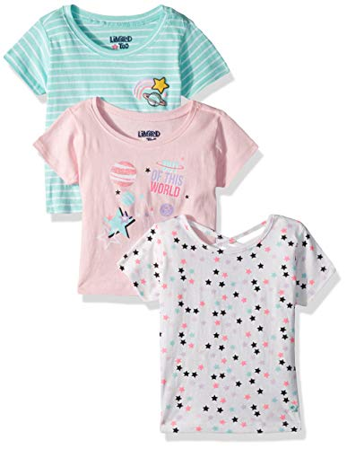 - Limited Too Girls' Toddler 3 Pack Short Sleeve T-Shirt, Out of This Out of This World Multi, 3T