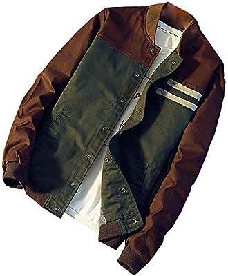LILICAT Chaqueta De Abrigo De Botones De Otoño E Invierno De Los Hombres Patchwork Camisa Verde Militar Chaqueta Delgada Larga Rompevientos: Amazon.es: Hogar
