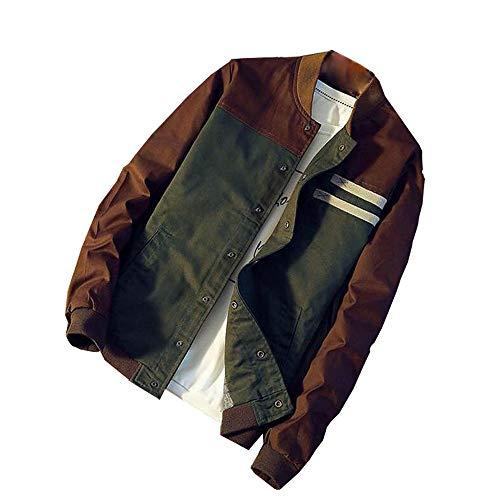- Gift Ideas! Teresamoon Men Winter Warm Jacket Button Overcoat Patchwork Outwear Slim Long Trench Coat