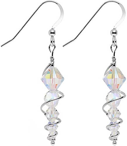 Body Candy Handcrafted 925 Silver Icicle Drop Earrings Created with Swarovski Crystals