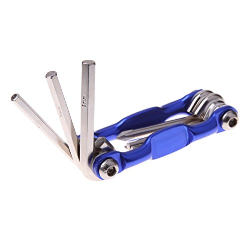 Bike Multi Fixing Tools- 7 in 1 Bicycle Tools Sets Mountain Road Bike Multi Repair Tool Kit Socket Head Wrench Cycling Screwdriver Tool Multi Tool by BKVT (Image #4)