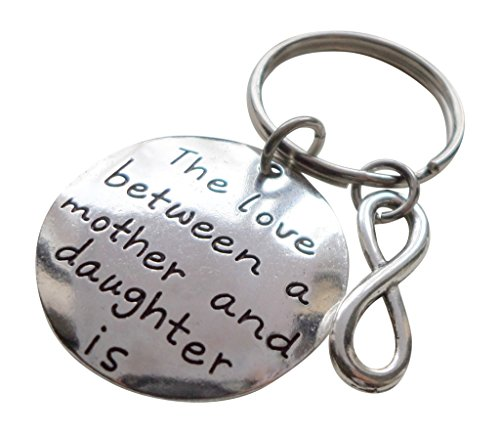 Love Between Mother and Daughter Keychain, Saying with