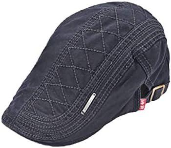 野球帽 キャスケット メンズ 鳥打帽 ゴルフ コットン 日よけ 調整可能 シンプル ハンチング 55-61cm LWQJP (Color : Navy blue, Size : M)