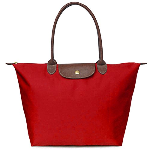 Beach Burgundy Bag Nylon Waterproof Bags Travel Shoulder BEKILOLE Tote Women's Stylish gZ8B8T