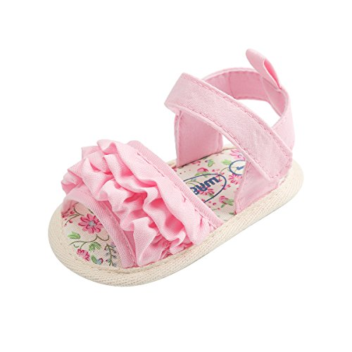 Image of Sakuracan Infant Baby Girls Sandals Cute Summer Shoes Soft Sole Flat First Walker Shoes