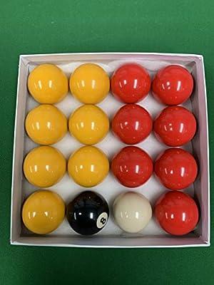 Juego de bolas de billar de 2 pies en color rojo y amarillo ...