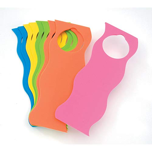 Bulk Buy: Darice Foamies Foam Door Hanger Wavy Basic Colors 9 pieces (6-Pack) 1022-90 ()