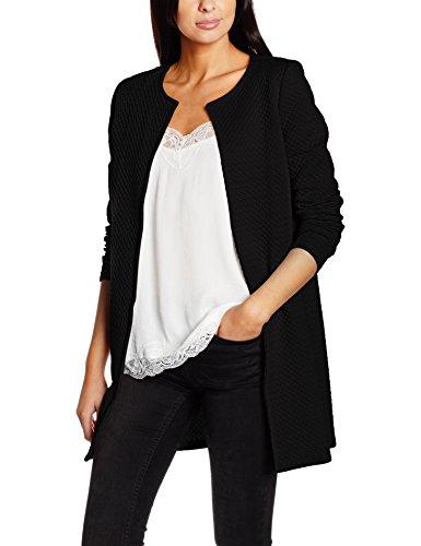 VILA CLOTHES Women's Vinaja New Long Jacket-noos Cardigan Black (Black Black)
