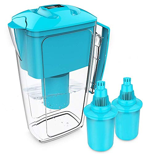 OXA 10 Cup Long-Lasting Water Filter Pitcher with Two x 60-Day Filters