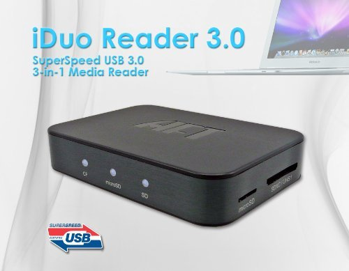 Atech Flash iDuo Reader 3.0 SuperSpeed True USB 3.0 Exter...