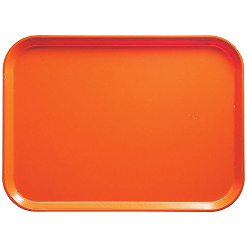 Citrus Orange Rectangular Camtray Fiberglass (Cambro 1216220 Camtray 12