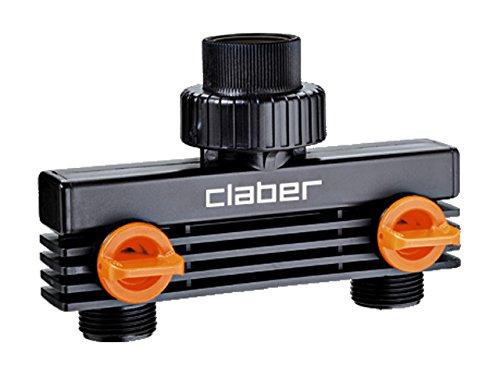 Claber 8589 Presa A Due Vie 3/4 Maschio, Nero/Arancione/Grigio: Amazon.it:  Giardino E Giardinaggio