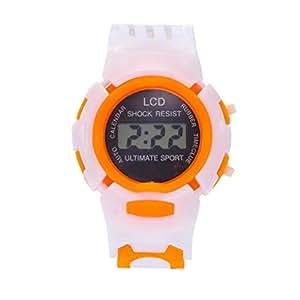 Y56 Outdoor Sport Digital Watch Relojes Led Cuarzo analógico Hombre Mujer Reloj de Pulsera Relojes Chica Joven, Color Naranja: Amazon.es: Deportes y aire ...