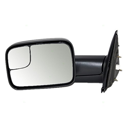 Drivers Power Trailer Tow Side View Mirror Heated 7×10 Flip-Up Replacement for Dodge Pickup Truck 55077445AO