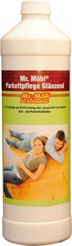 Mr.Möbi© Parquet Care Glossy, 1 ltr. - First care and freshening of parquet and waterproof sealed wooden floors