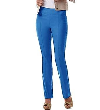 Urrebel Pants for Womens-simon Chang Pull-on Straight Leg Pants(Cobalt,16)
