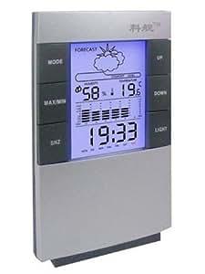 Huhushop(TM) Nueva digital de Temperatura Humedad Medidor LED Termómetro Higrómetro Reloj