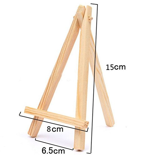 1 Pcs Mini Wood Display Easel Wedding Place Name Card Holder Stand By Crqes by Crqes (Image #2)
