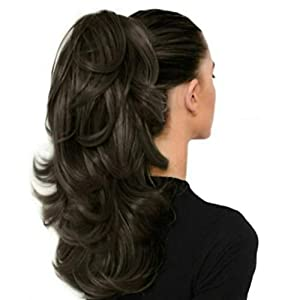 Alizz beautiful cute small ponytail Hair Extension For Women, black , Pack of 1 high volume of hair