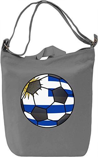 Uruguay Football Borsa Giornaliera Canvas Canvas Day Bag| 100% Premium Cotton Canvas| DTG Printing|