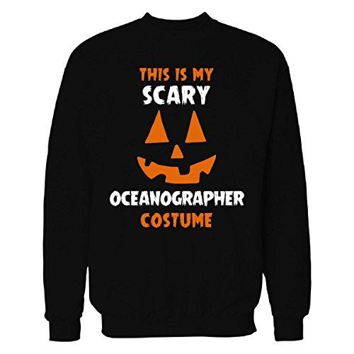 Oceanographer Costume (This Is My Scary Oceanographer Costume Halloween Gift - Sweatshirt Black 4XL)