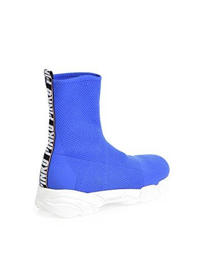 Pinko Ladies 1h20fqy4dzg00 Poliammide Blu Slip On Sneakers