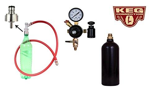 Soda Carbonating Kit, 20 Oz Co2 Bottle,Stainless Steel Carbonating Cap by Kegconnection by Kegconnection