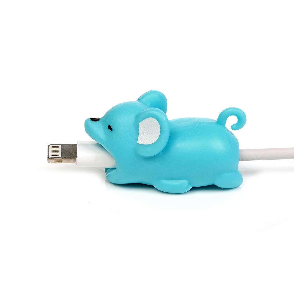 Mlorras Tier Kabel Silikon Datenkabel Protector Kabelbeiß er Ladekabel USB Aufladekabel Datenkabel Schü tzt Kabelschutz Zubehö r fü r iPhone iPad Samsung A6 Huawei P20 Mate20 Lite Schaf MM/S17LL/040