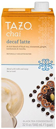 Tazo Chai Decaffeinated Tea Latte Liquid Concentrated Tea, Three (3) Count 32-Ounce (Starbucks Decaffeinated Tea)