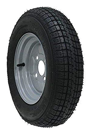 Una rueda del acoplado de la pulgada de 10 pulgadas y neumático 145 10 6 ply 400kgs 76M 4 perno 100m m PCD: Amazon.es: Coche y moto