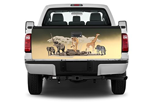 Africa #2 Tailgate Wrap Vinyl Graphic Decal Sticker Wrap -