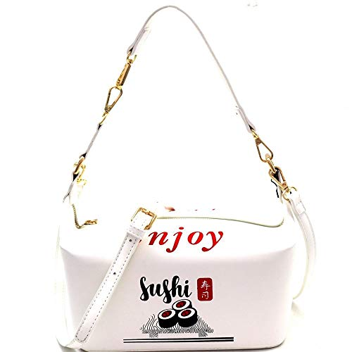Unique Japanese Sushi Take-Out To-Go Box Fun Novelty Costume Shoulder Bag Clutch Cross Body]()