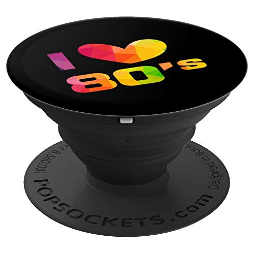 I Love The 80's Art | Cool 1980's Fancy Pop Art Gift - PopSockets Grip and Stand for Phones and Tablets -