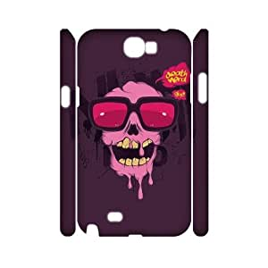 WJHSSB Skull Art 2 Phone 3D Case For Samsung Galaxy Note 2 N7100 [Pattern-5]