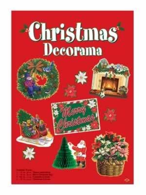 10 Piece Merry Christmas Happy Holidays Cutouts Decorama Decorations Kit ()