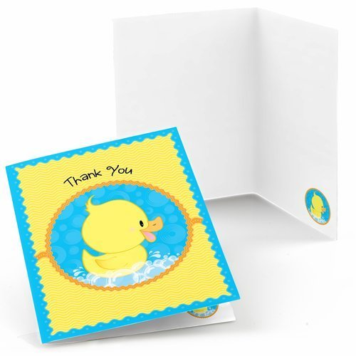 Big Dot of Happiness Ducky Duck - Baby Shower or Birthday Party Thank You Cards (8 Count) (Duck Thank You Cards)