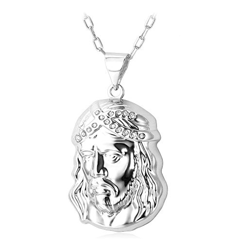 Fashion Plated Platinum Pendant Necklace