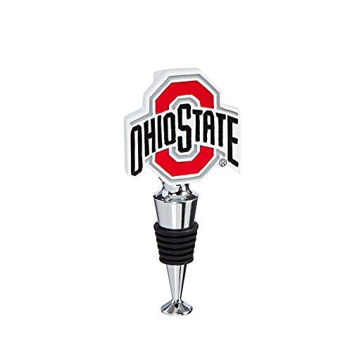 Team Sports America Ohio State University Hand-Painted Team Logo Bottle - Wine University Glass State