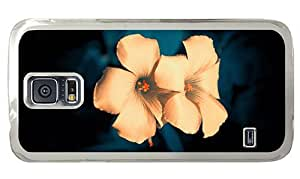 Hipster Samsung Galaxy S5 Cases customizable flowers background PC Transparent for Samsung S5