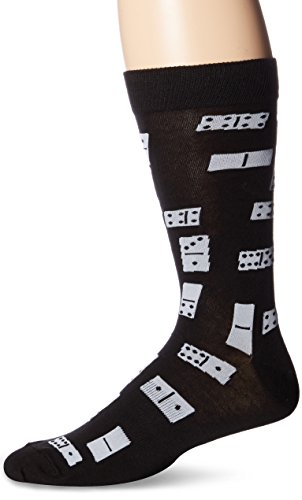 K. Bell Socks Men's Crew, Dominoes, 10-13