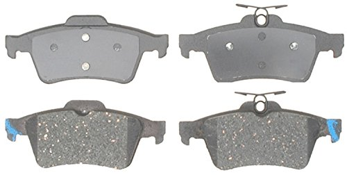 (ACDelco 14D1095CH Advantage Ceramic Rear Disc Brake Pad Set with Hardware)