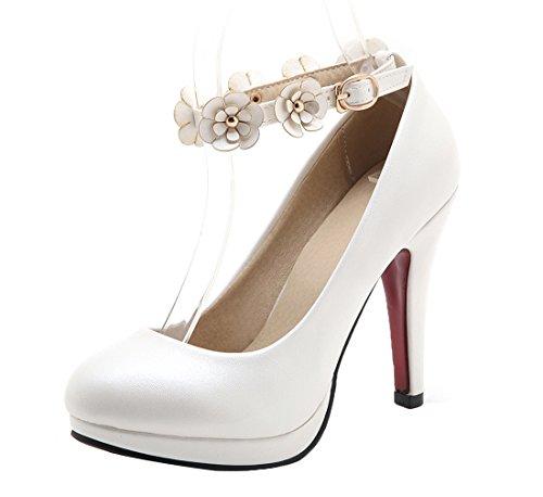 Alla Bianco Ye Scarpe Donna Caviglia Con Cinturino qTqw74t